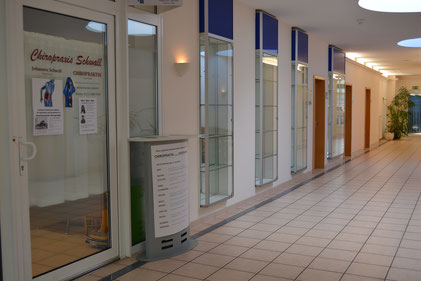 Eingang - Passage im Ärztehaus Vitalis