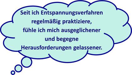 """""""Seit ich Entspannungsverfahren regelmäßig praktiziere, fühle ich mich ausgeglichener und begegne Herausforderungen gelassener."""" MediTrigon Freiburg"""