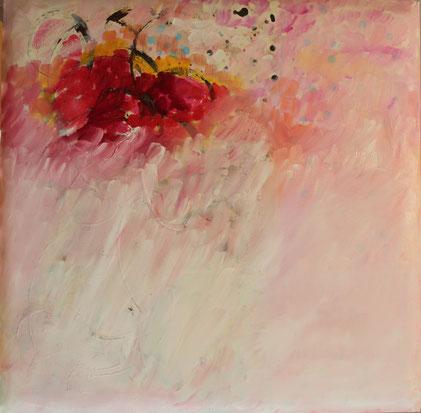Nr. 2012-HO-014: 70 x 70 cm, Acryl, Öl, Rost auf unterpolsteter Leinwand