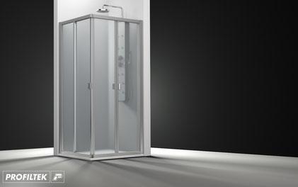 Mampara de ducha angular plegable Profiltek Duna DU-221