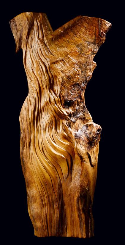 sculpture, bois non-figuratif, suggestif, femme