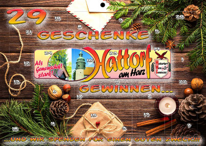 Der Hattorfer Adventskalender für nur € 3,00 - die Chance auf Gewinne im Advent!