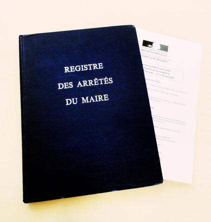Montret - Registre des arrêtés du Maire