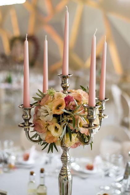 Velas de candil para decoración de eventos y mesas - Cerería de Jesús