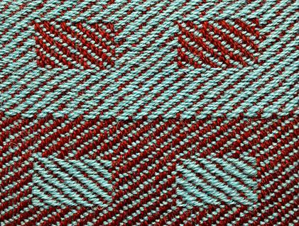 twill weave, 1/3 twill versus 3/1 twill, on 8 shafts
