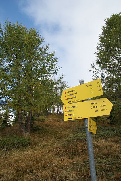 Wegkreuzung Dolomitenblick