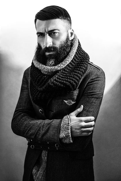 Fashion black and white portrait of a man by Monica Monimix Antonelli