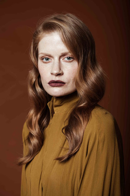 Fashion portrait of a red hair model