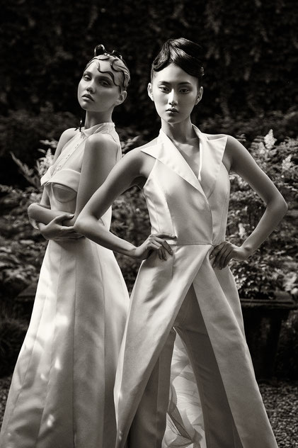Two bride dresses by Monica Monimix Antonelli