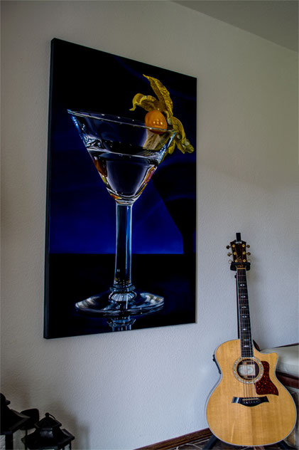 GLASS WITH FRUIT- Öllasuren auf Leinwand, 80 x 140cm