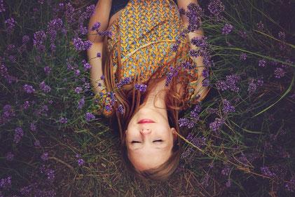 Lavendelfeld Entspannung Relaxen