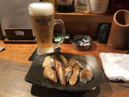 サゴシの焼きとビール