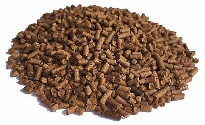 Futter Pellets aus 100% Gammarus für bedarfsgerechte Versorgung des Geflügels mit Eiweiß, Mineralien, Vitaminen und Carotinoiden.