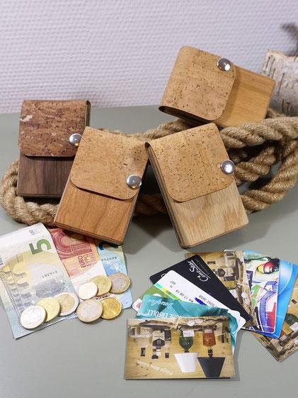 Portemonnaie, Holz Geldbeutel