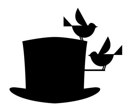 Sein Zylinder mit Einflugloch für Vögel