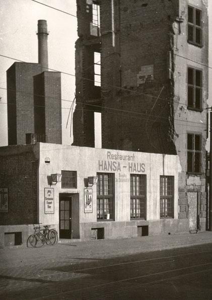 Das zuerst fertiggestellte Restaurant 1948