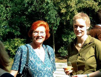 Mit Mutter anlässlich der Promotionsfeier