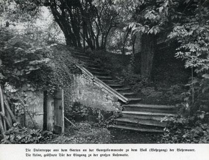 Links Eingang zur Kasematte - Foto ,Das schöne Münster' 1936