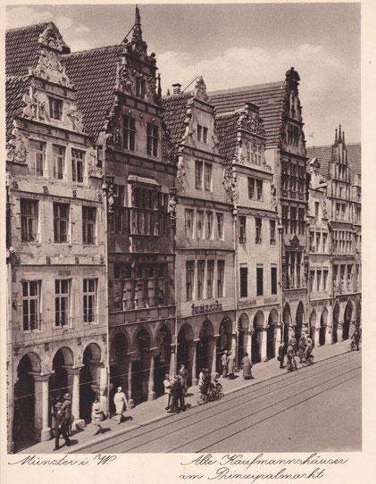 Prinzipalmarkt 32 um 1920 (Haus ganz links)