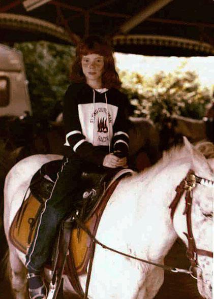 Stefanie beim Ponyreiten