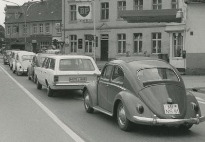 Parkstreifen an der Grevener Straße um 1970
