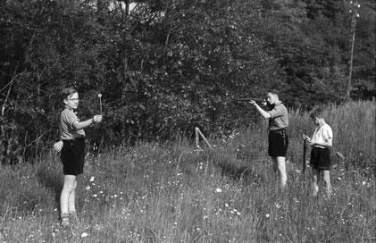Schießübungen mit Luft-/Kleinkalibergewehr