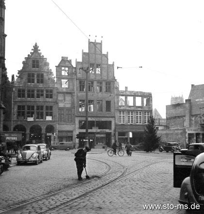 Ritzenreiniger am Drubbel um 1950 - Sammlung Henning Stoffers