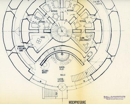 Plan für den Umbau des Zwingers