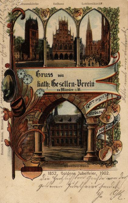 Ansichtkarte anlässlich des 50jährigen Bestehens 1902