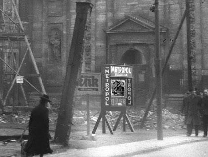 Um 1950: Kinowerbung auf der Salzstraße - Collage