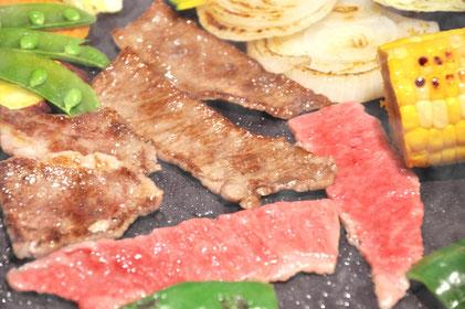 和牛A5焼肉の調理例