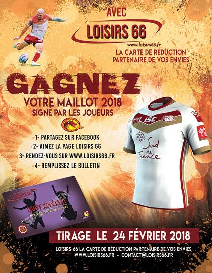 Concours gagnez votre maillot Dragons Catalans