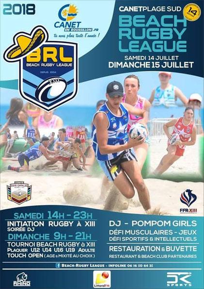 Loisirs66 partenaire Beach Rugby League 2018