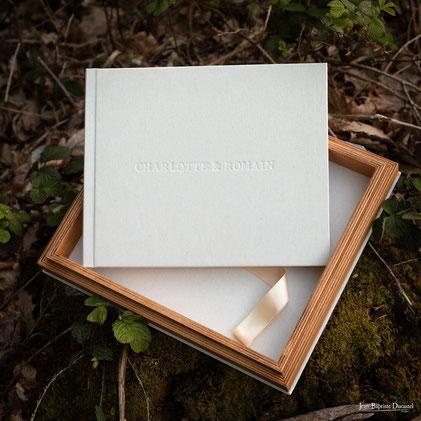 livre photo mariage couverture tissu buckram