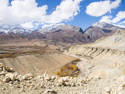 Blick auf Ghar-Gompa - hier kamen wir vor ein paar Tagen vorbei