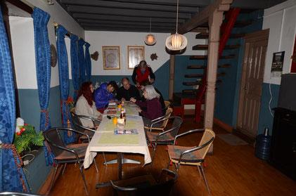 """Aufenthaltsraum der Lodge """"The green Kitchen"""""""