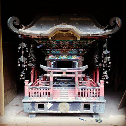 備前国総社宮に寄贈された、文政13年に造られた神輿