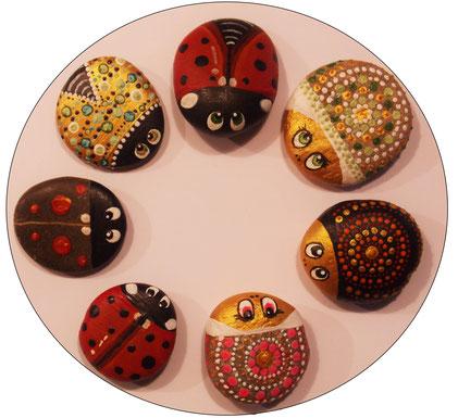 #rockart #paintedrocks #bemaltesteine #steinkunst #marienkäfer #ladybug