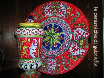 piatto ceramica dipinto a mano ceramica maiolica