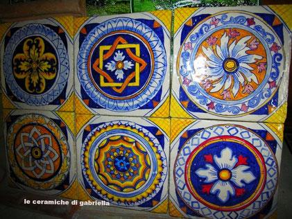 pannello per cucina e bagno di ceramica antiche mattonelle  misure 40 x 60