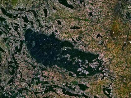 Satelittenbild Harz -Quelle: Nasa/Wikipedia