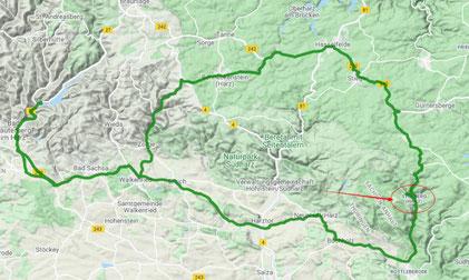 120 km durch den Südharz mit Besuch der historischen Europastadt Stolberg
