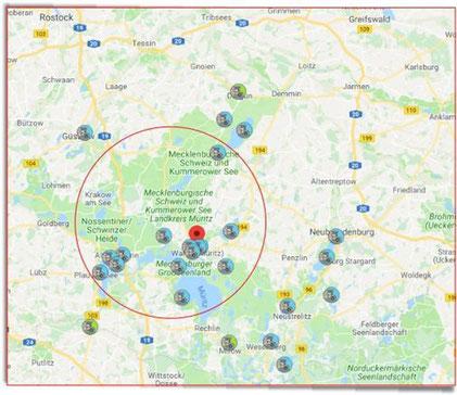 Stellplätze in Mecklenburg-Vorpommern