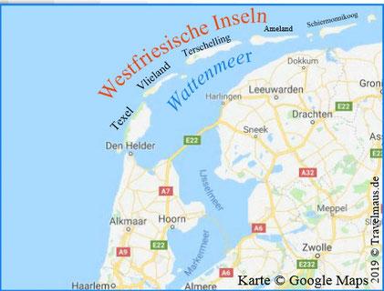 Westfriesische Inseln / Wattenmeer/ Niederlande