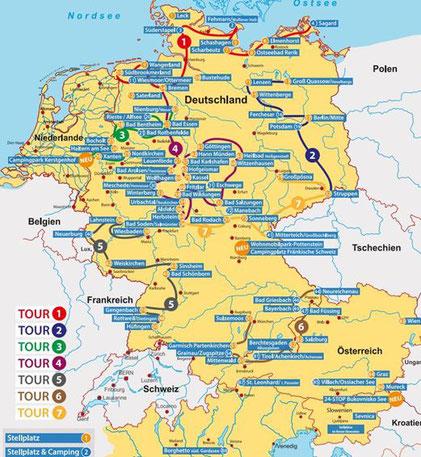 """""""Mein Platz"""" - Stell-und Campingplätze für Mobilisten (Tourenvorschläge!)"""