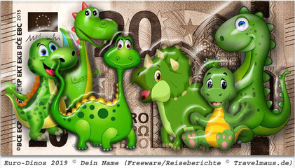 Euro - Dinos ... Spielgeld for Kids