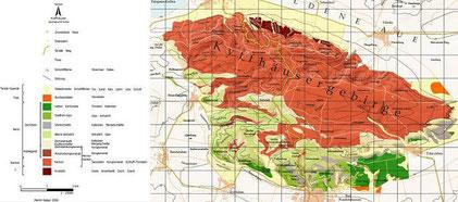 Geologische Karte Kyffhäusergebirge  Quelle: Raban, M., Mertmann, D. & Dobmeier, M. (2007): GeoFeld. Freie Universität Berlin  (/34/)