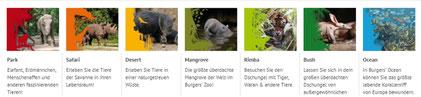 7 Welten des Burger`'s Zoo in Arnhem,
