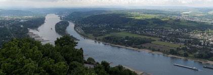 Blick vom Drachenfels auf den Rhein (Queller: Wikipedia