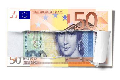 Euro zerrissen